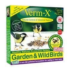 Verm-x herbal pellets for garden & wild birds